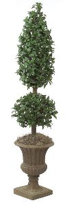 Artificial Topiary Trees, Cone Topiary, 6 feet   Laurel Ball and Cone Topiary